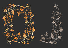Floral ornament. Frame formed from floral ornament. Ð¡orner element placed as illustrative exaple vector illustration