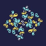 Floral ornament. A colorful floral decorative ornament Royalty Free Stock Photo