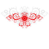 Floral ornament. (vector abstract illustration Royalty Free Stock Image