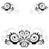 Floral ornament. (vector abstract illustration Stock Image
