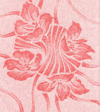 Floral ornament. Textile floral  element in red Stock Photography
