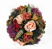 Floral ornament. This image ilustrate a handmade flower bouquet ornament made of natural dryish flowers Stock Photo