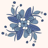 Floral ornament. Of flowers and leaves Vector Illustration