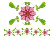 Floral ornament. Illustration vector illustration