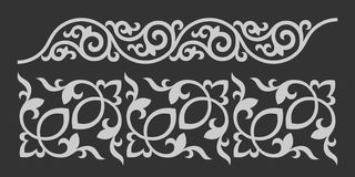 Floral ornament. Vector image of decorative elements/patterns royalty free illustration