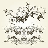 Floral ornament stock illustration