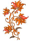 Floral ornament. An Elegant graphic Floral ornament Stock Image