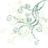 Floral ornament. Decorative spring style illustration Royalty Free Stock Images