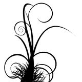 Floral ornament. Silhouette, vector illustration stock illustration