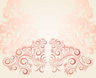 Floral ornament. Vector ornament in style of Russian folk art hohloma Royalty Free Stock Image