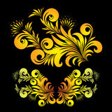 Floral ornament. Vector ornament in style of Russian folk art hohloma Royalty Free Stock Photo