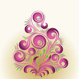 Floral ornament. Vector ornament in style of Russian folk art hohloma Royalty Free Stock Images