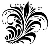 Floral ornament. Element for design, vector illustration Royalty Free Stock Photos