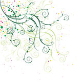 Floral ornament 8. Floral ornament, spring style graphic illustration Royalty Free Stock Images