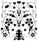 Floral ornament. Ornamental design, digital artwork, isolated vector illustration