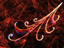 Floral ornament abstract fire line. Floral ornament  abstract fire line smoking gradient, textured backdrop Royalty Free Stock Photo