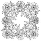 Floral ornament.  Art of mandala style.  Zentangle Royalty Free Stock Photo