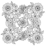 Floral ornament.  Art of mandala style.  Zentangle Royalty Free Stock Photos
