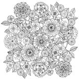 Floral ornament.  Art of mandala style.  Zentangle Stock Images