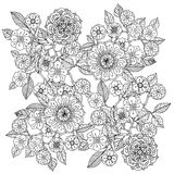 Floral ornament.  Art of mandala style.  Zentangle Stock Photography