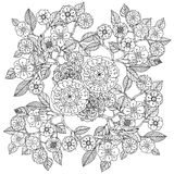 Floral ornament.  Art of mandala style.  Zentangle Royalty Free Stock Image