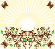 Floral ornament background royalty free stock photo