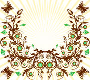Floral ornament background Royalty Free Stock Photography