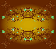 floral ornament background with butterf royalty free stock photos
