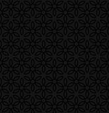 Floral ornament. Black Neutral Seamless Pattern for Modern Desig. N in Flat Style. Tileable Geometric Vector Background Stock Images