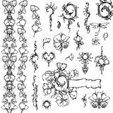 Floral ornament, black and white. Floral ornament, vector design elements, black and white Stock Photo
