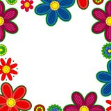 Floral ornament border Stock Photo