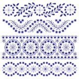 Floral Ornament Borders. Set of 4 decorative floral ornament borders Royalty Free Stock Image