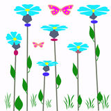 Floral ornament with butterfly, Stock Photos