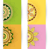 Floral ornament cards design Stock Photography