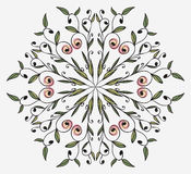 Floral ornament on a circle Royalty Free Stock Image