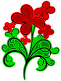 Floral ornament with colors Royalty Free Stock Photos