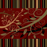 Floral ornament on a dark red background Stock Photos
