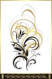 Floral ornament for decor. Fragment Royalty Free Stock Images