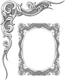 Floral ornament, decorative frame, vector Royalty Free Stock Photo