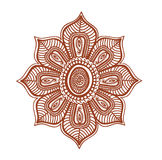 Floral ornament - decorative indian tatto flower. Mendi arabian vector Royalty Free Stock Photos