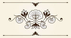 Floral ornament design element Royalty Free Stock Photos