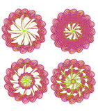 Floral ornament element set Royalty Free Stock Photos
