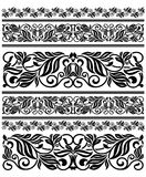 Floral ornament elements and embellishments Royalty Free Stock Photos