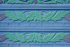 Floral ornament on fence. Architectural element background Royalty Free Stock Photos