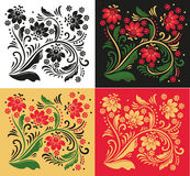 Floral ornament in folk style Royalty Free Stock Photography