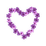Floral ornament in the form of heart. Stock Images