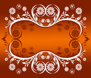 Floral ornament frame Royalty Free Stock Images