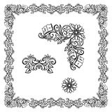 Floral ornament frame Royalty Free Stock Image