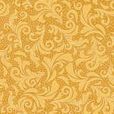 Floral ornament in gold yellow Royalty Free Stock Images
