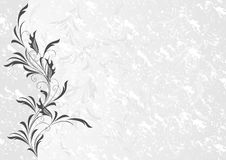 Floral ornament with grunge background Royalty Free Stock Photography